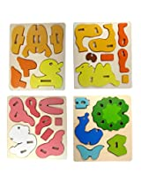 And-Generic Wooden 3D Puzzle For Kids / Children - (Multiple Exciting Patterns. Per Order 1 Random Pattern)