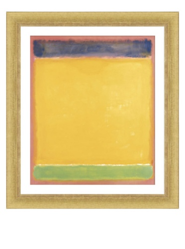 Rothko - Blue Yellow Green on Red, 1954, 40.5