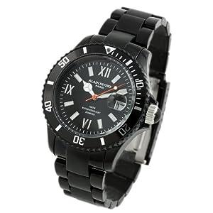 [アランディベール]腕時計 100m防水ダイバー 天然ダイヤモンド メンズ 時計