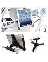 """Tuff-Luv Universal Car Headrest holder 7-8"""" Tablets inc Apple iPad Mini / Retina / Nexus 7 / Joytab - Black"""