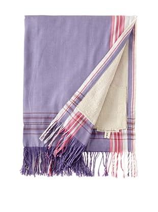 Nomadic Thread Society Fringed Surf Sarong Towel (Lav/White)