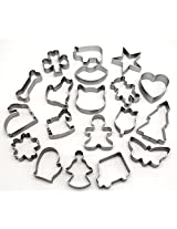 Winblo 19PCS Cookie Chocolate Cutters Set Assorted Shapes Cake Mold - Make Fun SHAPES Cookies