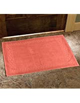 Avira Home 900 GSM Greek Design Terry Mat-Bathmat-Floor Mat-Door Mat-100% Cotton-Rust