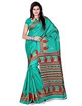 Cenizas Cotton Silk Saree With Blouse Piece (3304Grn -Green)