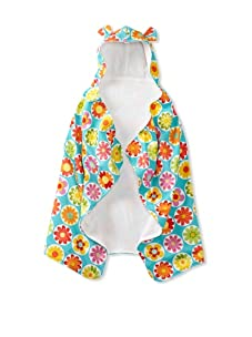 My Blankee Baby Hooded Towel with Ears (Big Daisy Turquoise)