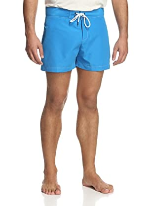 Parke & Ronen Men's Solid Boardshort (Vivid Blue)