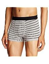 U.S. Polo Assn. Men's Cotton Trunks (Medium, black+grey melange)