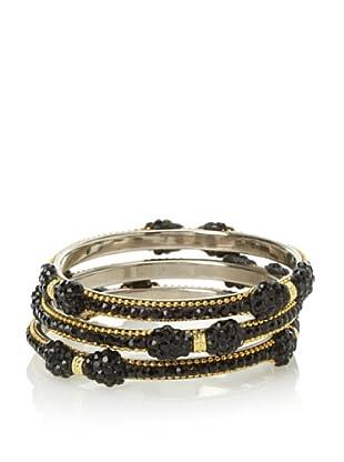 Saachi Black Bow Bracelet Stack