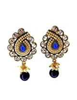 Gold Plated Crystal & Sapphire Look Earrings For Women