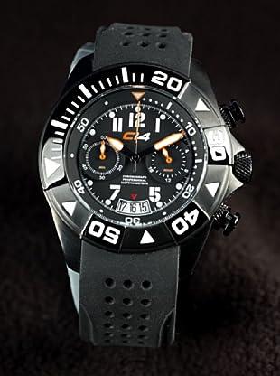 Carbon 14 Wl11 - Reloj Caballero Movimiento Quarzo Correa Caucho Negro