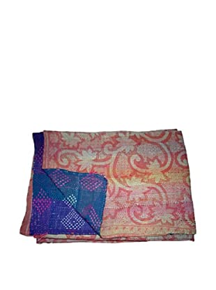 Vintage Lalima Kantha Throw, Multi, 60