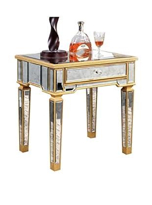 Florentine Lamp Table, Gold Leaf/Antique Mirror