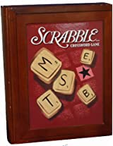 Parker Brothers Vintage Book Shelf Game Collection Scrabble Cross Word Game In Wooden Book Box