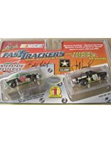 Life Like #18 Interstate Batteries And #01 U.S. Army Fast Trackers Ho Slot Car Twin Pack