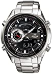 Casio Men's Stainless Steel Edifice Chronograph Analog Digital Black Dial