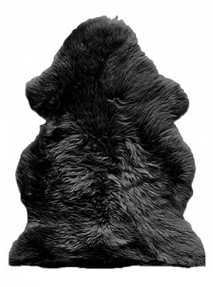 Natural New Zealand Sheepskin Rug (Black)