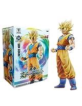 "Banpresto 49762 Dragon Ball Z Master Stars Piece King Of Coloring Super Saiyan Son Goku Action Figure, 10.5"""