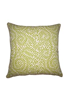 "Lacefield Designs Wesley Basket Weave 20"" x 20"" Pillow, Celery"