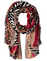 San Diego Hat Company Women's Multi Color Animal Print Scarf