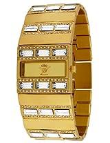 Elite model's fashion analog Gold dial Women's watch - E51414G/1014