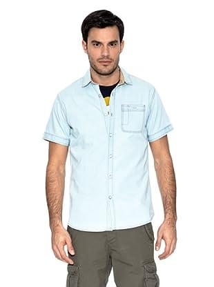 Springfield Camisa Denim Desgastado (Azul)