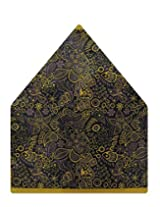 Tiekart Floral Print Polyester Pocket Square (Ps520_Multi-Coloured)