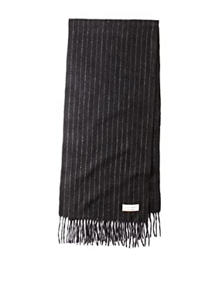 Joseph Abboud Men's Narrow Pinstripe Scarf (Black)
