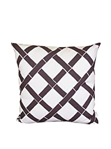 """Lacefield Designs Bamboo 20"""" x 20"""" Pillow, Brown/White"""
