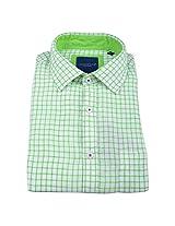 Linen Club Formal Shirt White &Green
