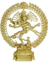 Exotic India Antiquated Nataraja - Brass Statue