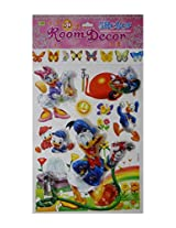 Colourful Themed 3D Layered Pop Up Adhesive Kids Room Decor Wall Sticker: 1 Pc (xc-035)
