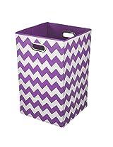 Modern Littles Laundry Bin, Color Pop Purple Chevron