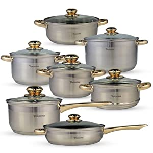 Pococina 13 Pieces Induction Cookware Set