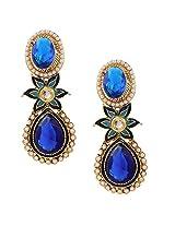 Ethnic Indian Artisan Jewelry Set Pretty Dangler EarringsBHEA0025BL