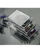 Luxury Acrylic Cosmetic Organizer Makeup Box 3 Drawers 1005-4***