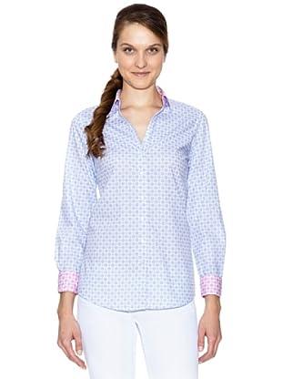 Tommy Hilfiger Camisa Hilary Prt Shirt Ls (Azul Cielo / Blanco)