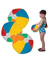 "Toy Cubby Adorable Inflatable 9"" Beach And Pool Party Ball 12 Pieces"