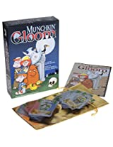 Munchkin Gloom Card Game 100% All Plastic Cards Bonus Gold Cloth Drawstring Pouch