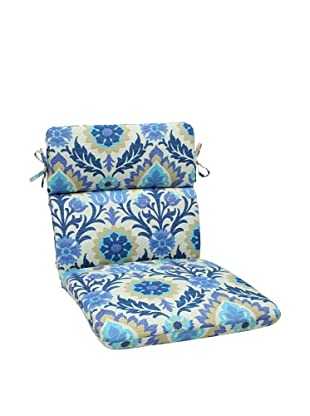 Pillow Perfect Outdoor Santa Maria Rounded Corner Chair Cushion, Azure