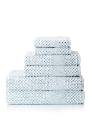Chortex Honeycomb 6-Piece Bath Towel Set (Duck Egg)