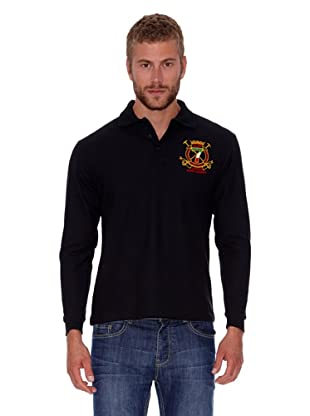 Polo Club Polo Regular Fit Ml Escudo & Corona (Negro)
