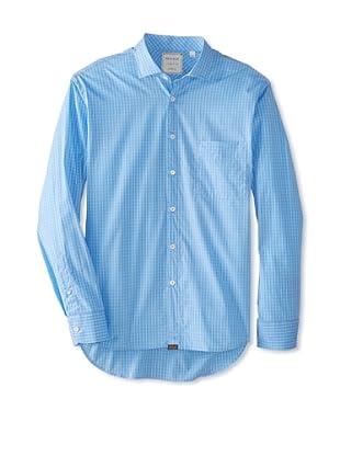 Billy Reid Men's John T Woven Shirt (Pink/Light Blue)