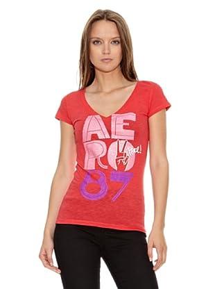 Aeropostale Camiseta Aero (Rojo)