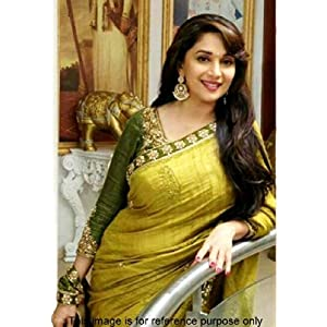 Madhuri Dixit lemon Green Bollywood Saree