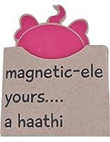 Haati Chaap Paper Fridge Magnet (8 cm x 8 cm x 8 cm, Purple)