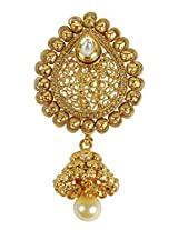 Exclusive Golden Polished Made Kundan Bach Hair Juda Pin For Women Partywear Jewelry