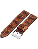 Hadley-Roma MS2025RB 220 22mm Leather Crocodile Brown Watch Strap