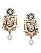 Meenaz Traditional Earrings Fancy Party Wear Kundan Moti Pearl Daimond Earrings For Women - TR121