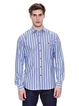 Springfield Camisa De Rayas Vc Raya Ox (Azul)