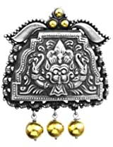 Exotic India Kirtimukha Pendant (South Indian Temple Jewelry) - Sterling Silver